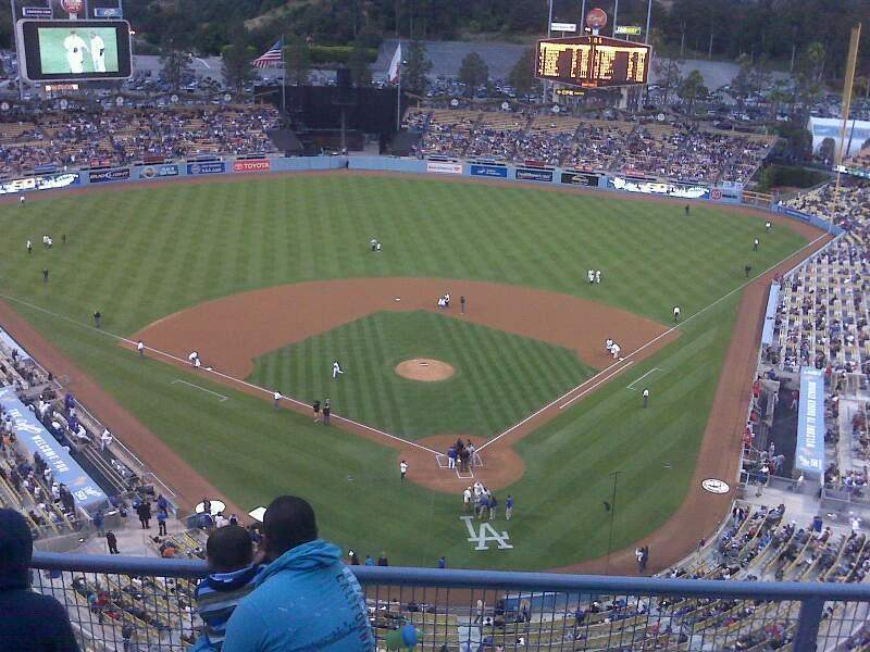 Seating view for Dodger Stadium Section top deck