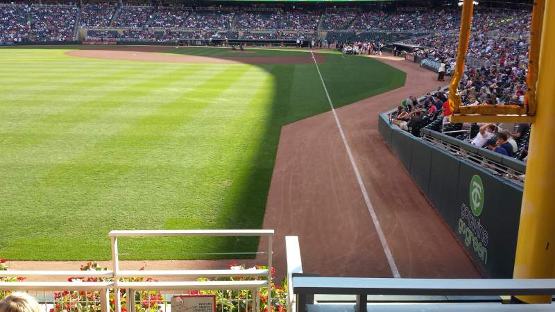 Seating view for Target Field Section 128 Row 4 Seat 1-4