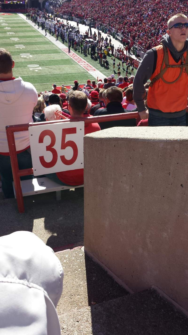 Seating view for Memorial Stadium Section 36-A Row 44 Seat 1 and 2