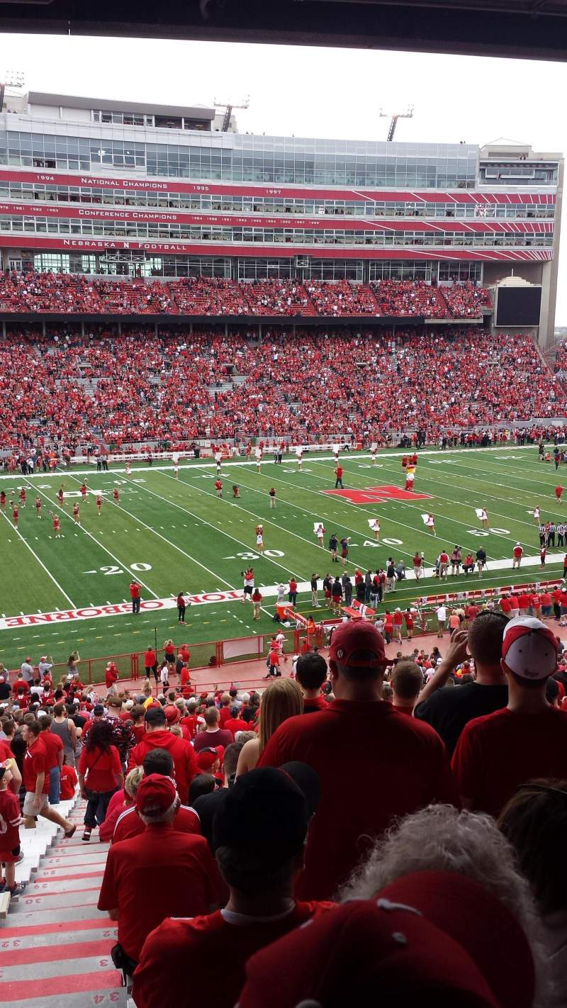 Memorial Stadium (Lincoln), section: 9, row: 40, seat: 24