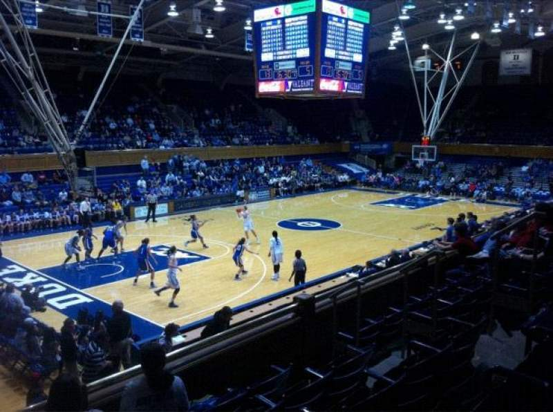 Seating view for Cameron Indoor Stadium Section 13 Row E