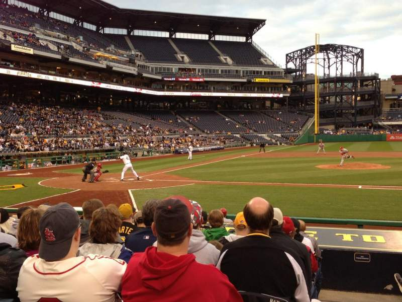 Seating view for PNC Park Section 112 Row A Seat 5