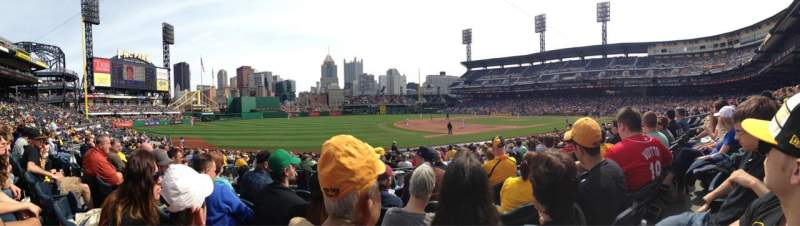 Seating view for PNC Park Section 127 Row E Seat 11