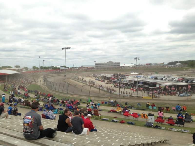 Seating view for Eldora Speedway Section SF Row 21 Seat 14