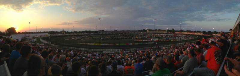 Seating view for Knoxville Raceway Section L Row 32 Seat 15
