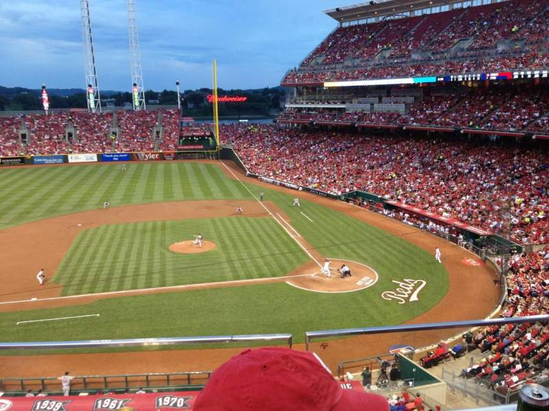 Seating view for Great American Ball Park Section 418 Row B Seat 10