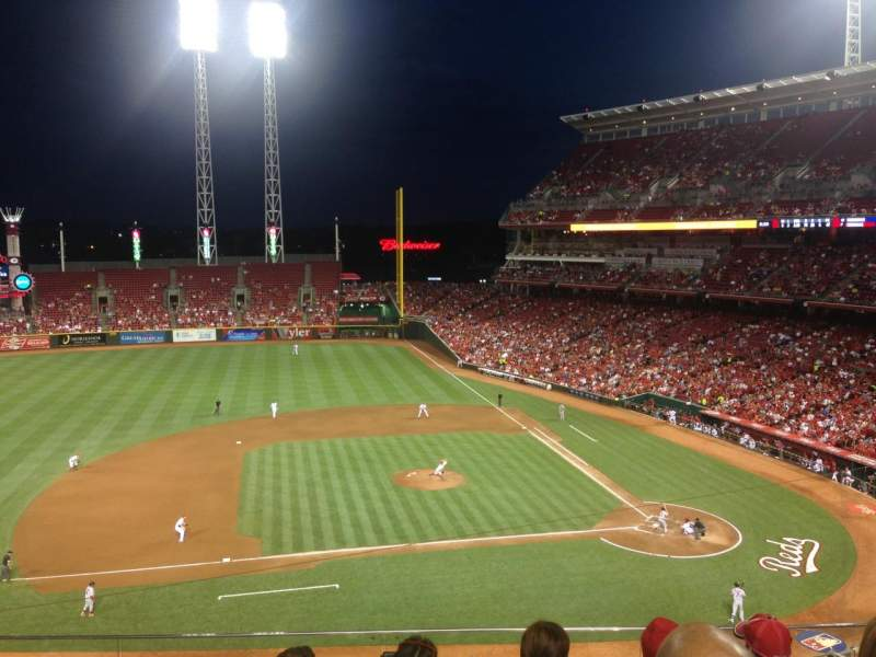 Seating view for Great American Ball Park Section 417 Row E Seat 8