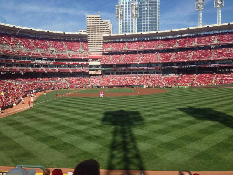 Seating view for Great American Ball Park Section 141 Row J Seat 15