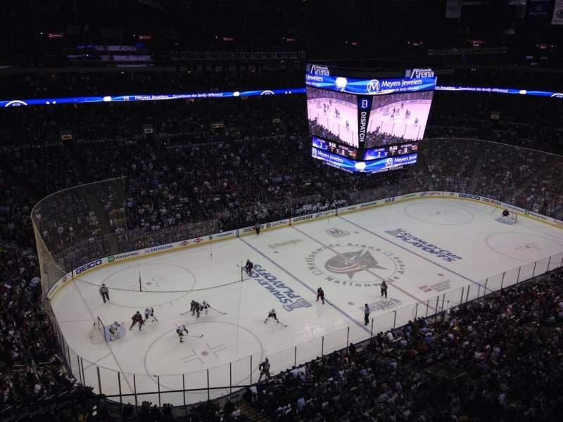 Seating view for Nationwide Arena Section Party Tower 6 Row 3 Seat 31