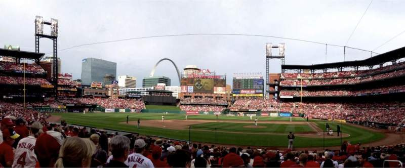 Seating view for Busch Stadium Section 154 Row 8 Seat 5