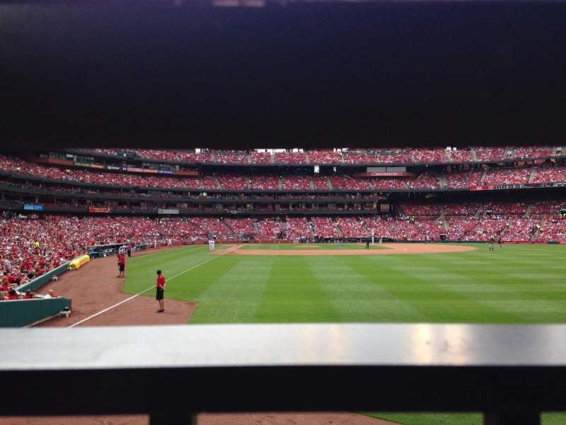 Seating view for Busch Stadium Section 128 Row 1 Seat 3