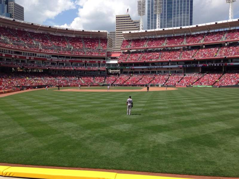 Seating view for Great American Ball Park Section 142 Row C Seat 14