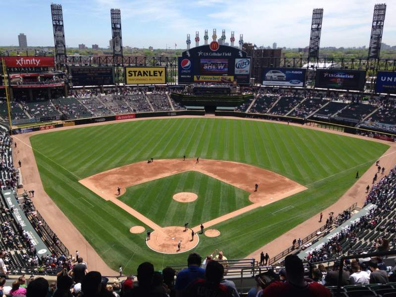 Seating view for U.S. Cellular Field Section 531 Row 17 Seat 4