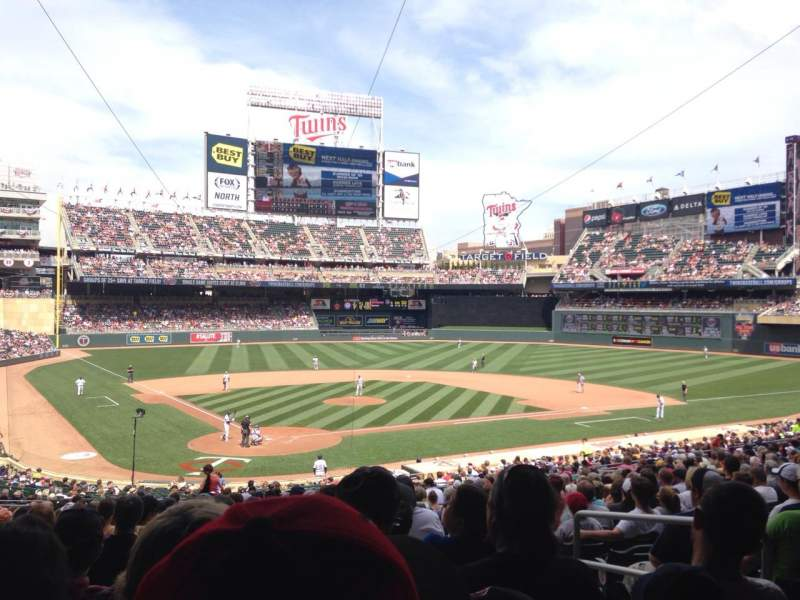 Seating view for Target Field Section 112 Row 22 Seat 6