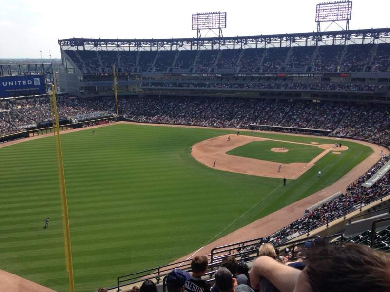 Seating view for U.S. Cellular Field Section 555 Row 13