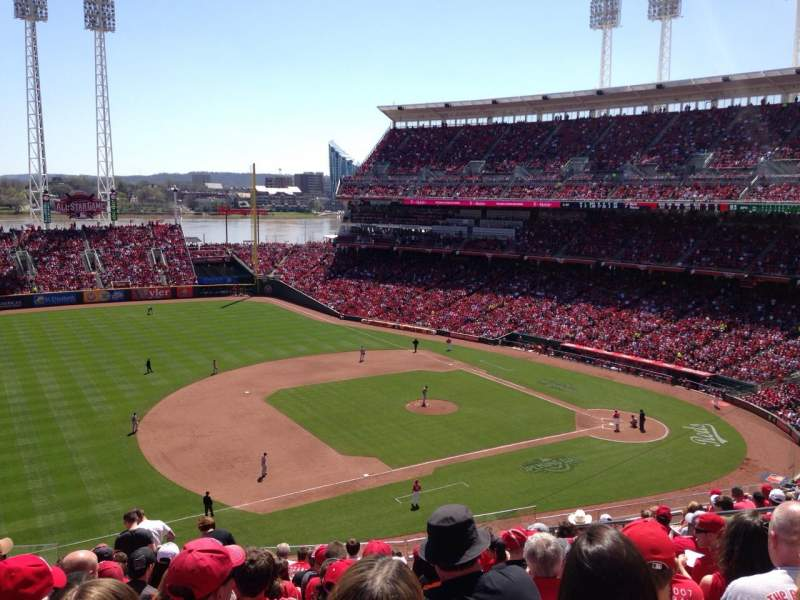 Seating view for Great American Ball Park Section 415 Row M Seat 11