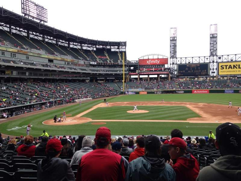 Seating view for Guaranteed Rate Field Section 126 Row 30 Seat 2