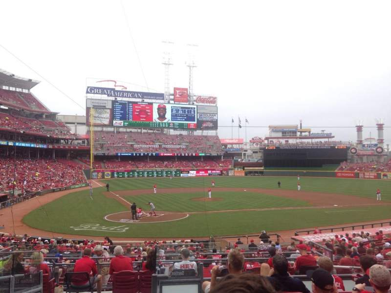 Seating view for Great American Ball Park Section 126 Row F Seat 7