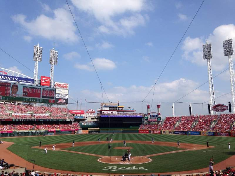 Seating view for Great American Ball Park Section 123 Row F Seat 10