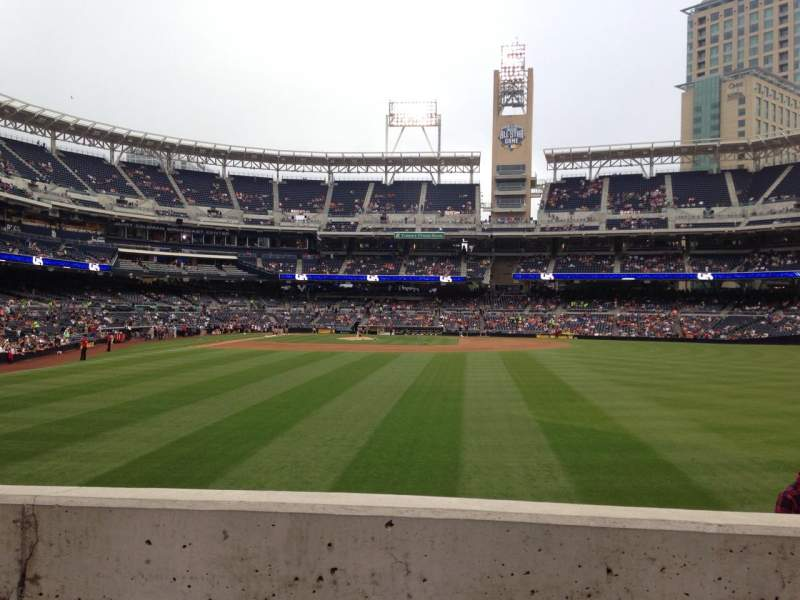 Seating view for PETCO Park Section 133 Row 2 Seat 10