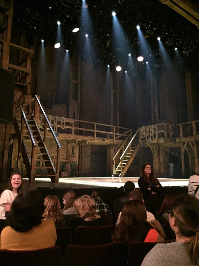 Seating view for Richard Rodgers Theatre Section Orchestra L Row E Seat 13