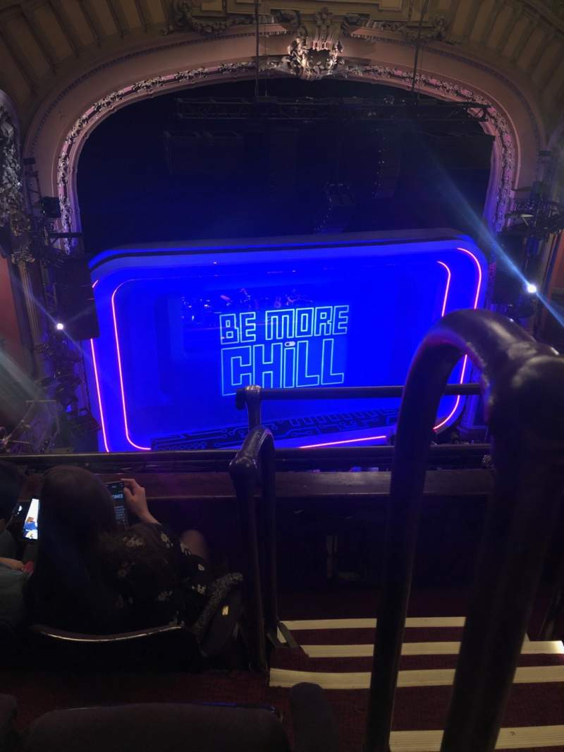 Seating view for Lyceum Theatre (Broadway) Section Balcony L Row C Seat 1