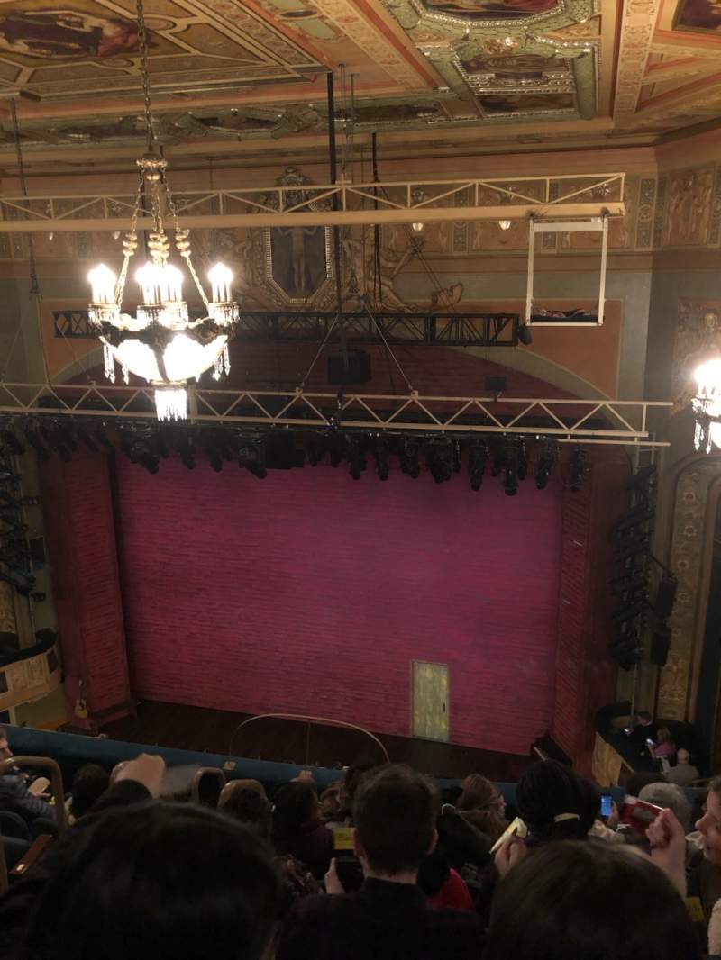 Seating view for Shubert Theatre Section Balcony R Row G Seat 6