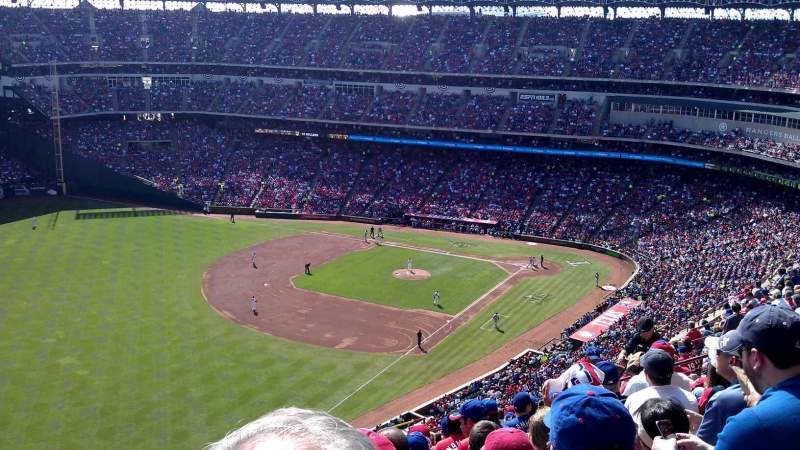 Seating view for Globe Life Park in Arlington Section 311 Row 17 Seat 1