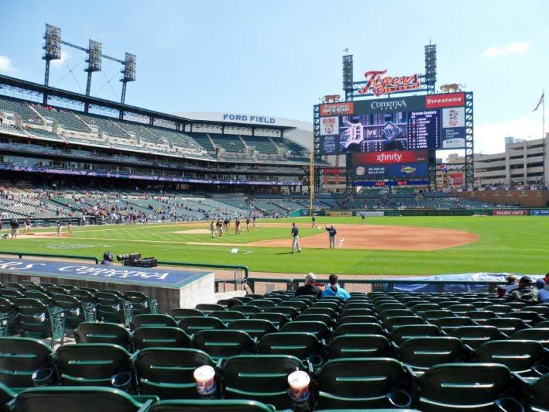 Seating view for Comerica Park Section 119 Row 16 Seat 12