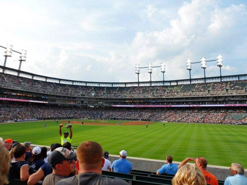 Seating view for Comerica Park Section 101