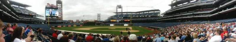 Seating view for Citizens Bank Park Section A Row 16 Seat 1