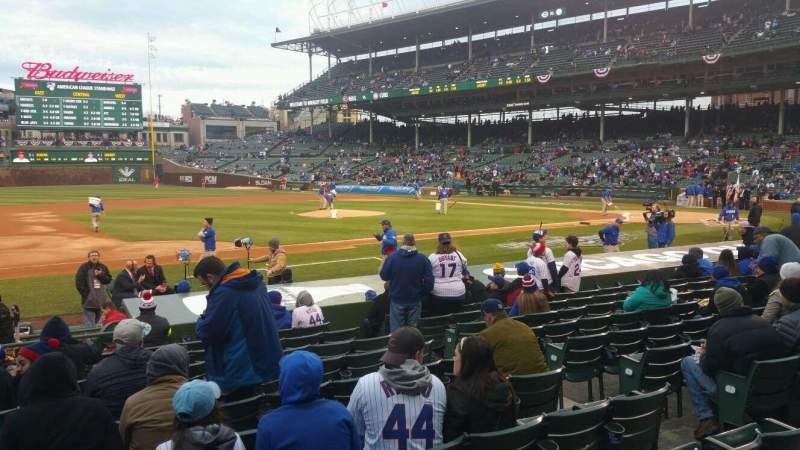 Seating view for Wrigley Field Section 112 Row 1 Seat 105