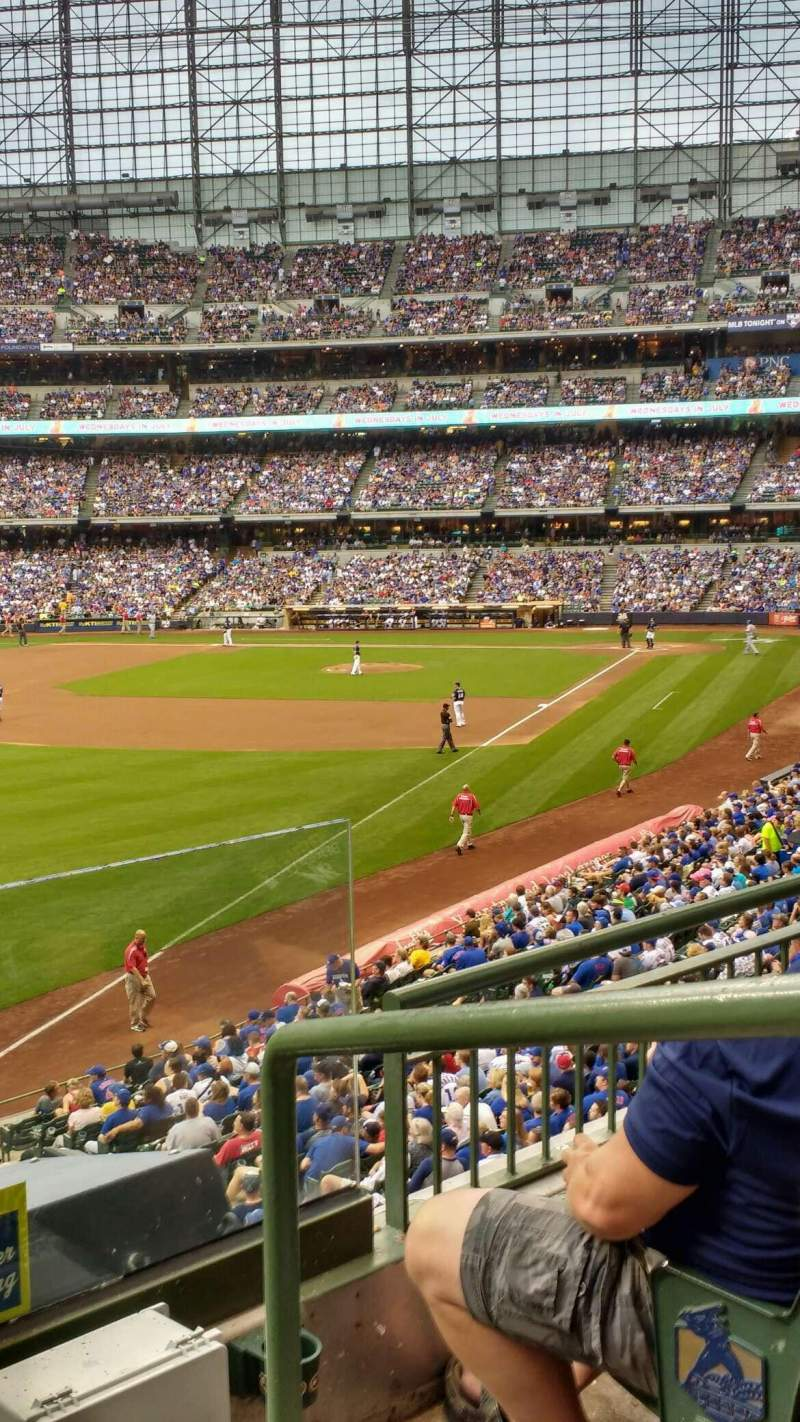 Seating view for Miller Park Section 232 Row 3 Seat 1