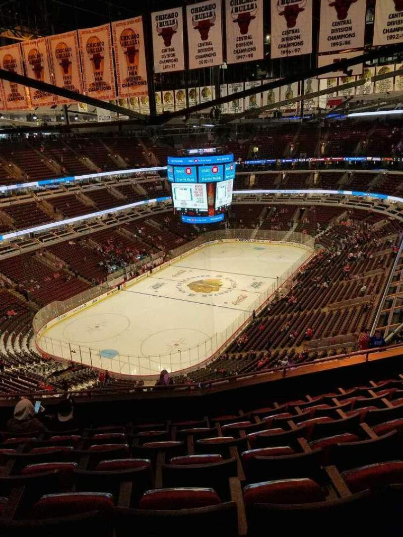 Seating view for United Center Section 323 Row 14 Seat 13