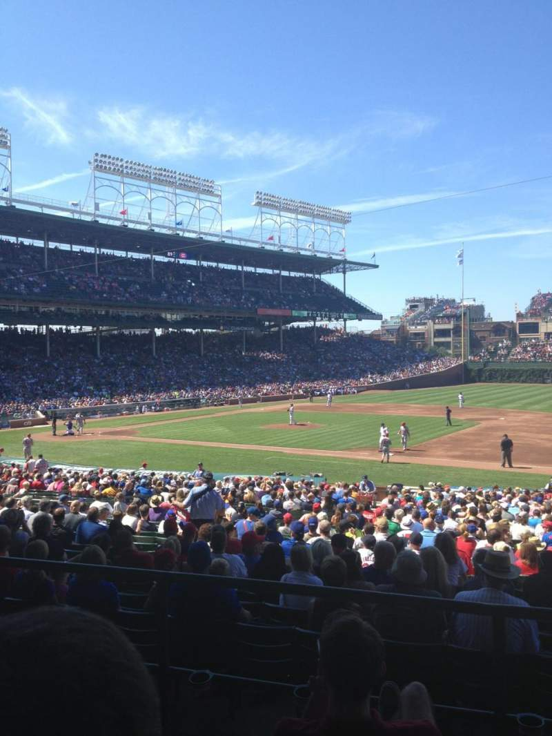 Seating view for Wrigley Field Section 233 Row 4 Seat 108