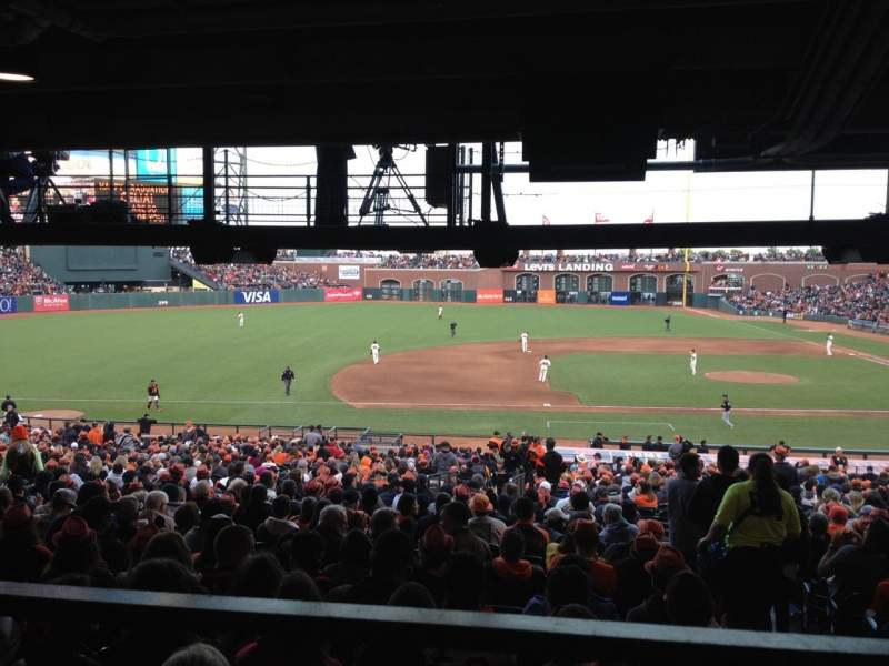 Seating view for AT&T Park Section 124 Row 39 Seat 1