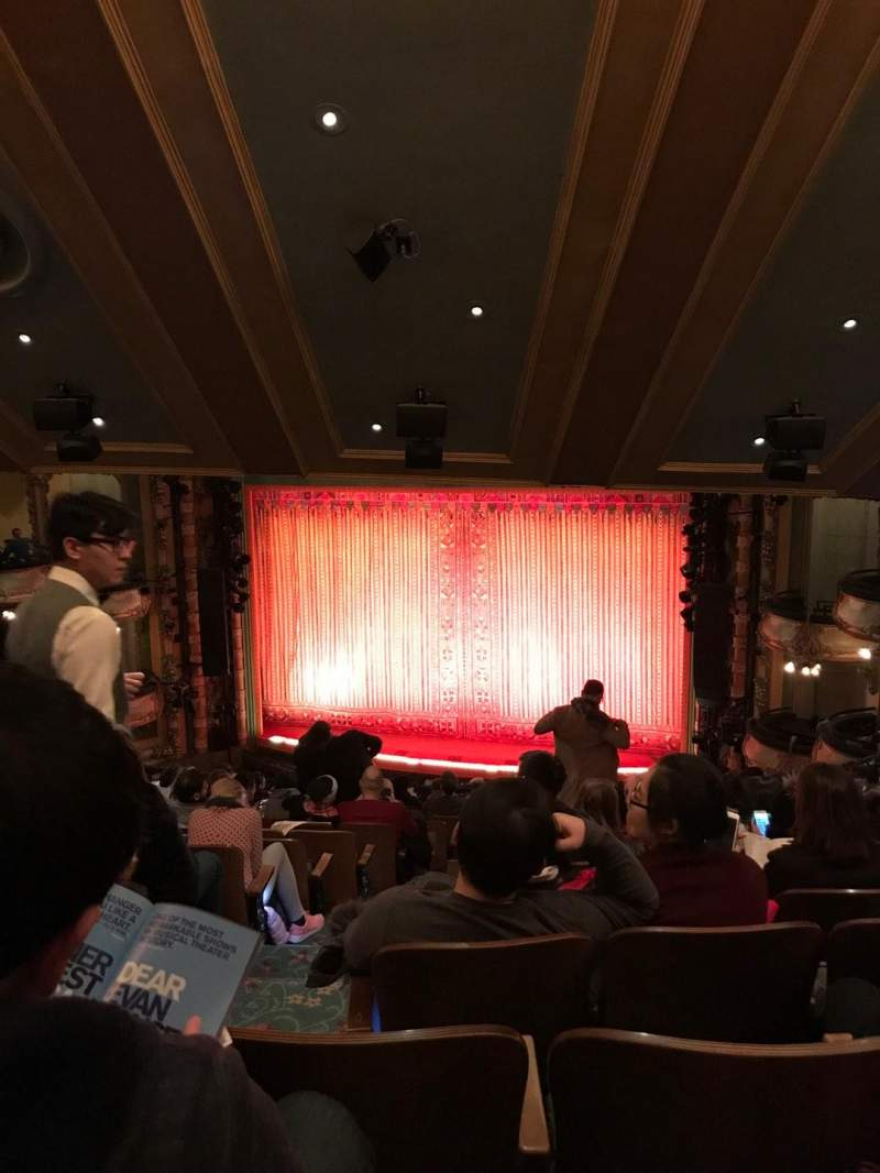 Seating view for New Amsterdam Theatre Section Mezzanine R Row QQ Seat 4