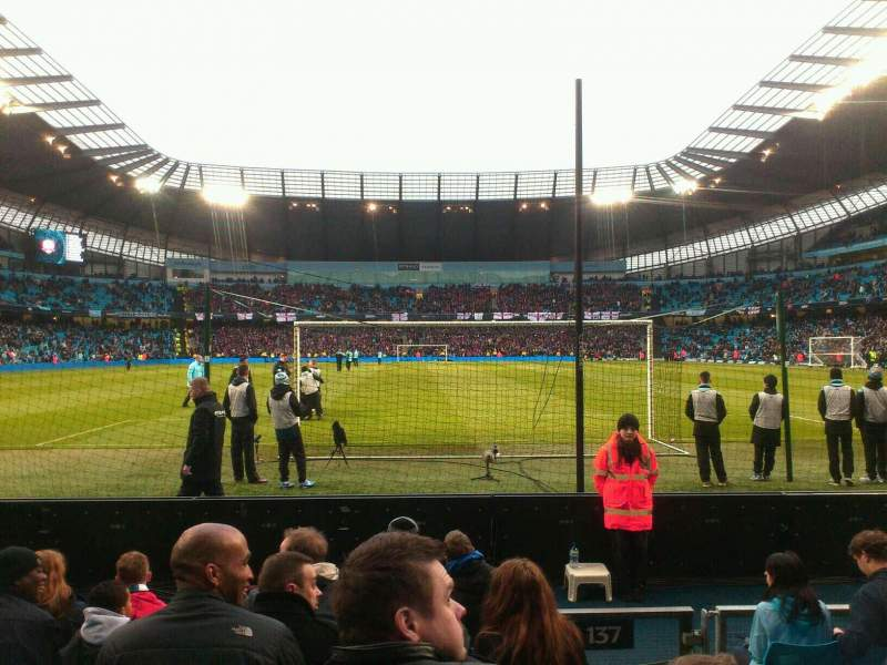 Seating view for Etihad Stadium (Manchester) Section 137 Row G Seat 1025