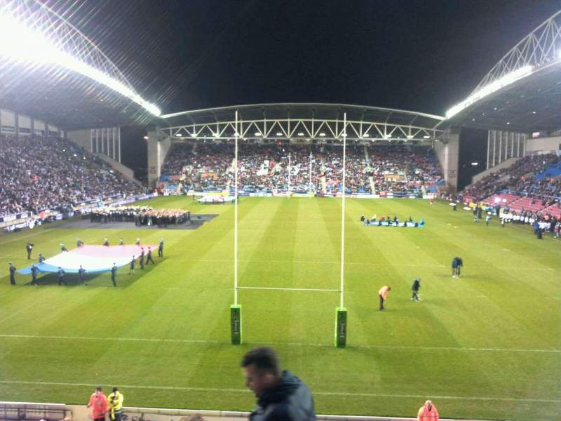 Seating view for DW Stadium Section north Row x Seat 90