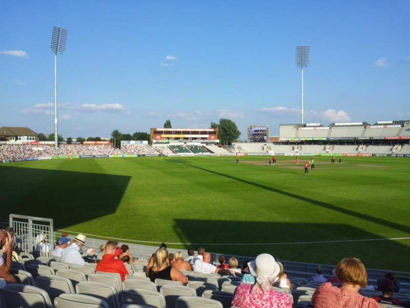 Seating view for Old Trafford Cricket Ground