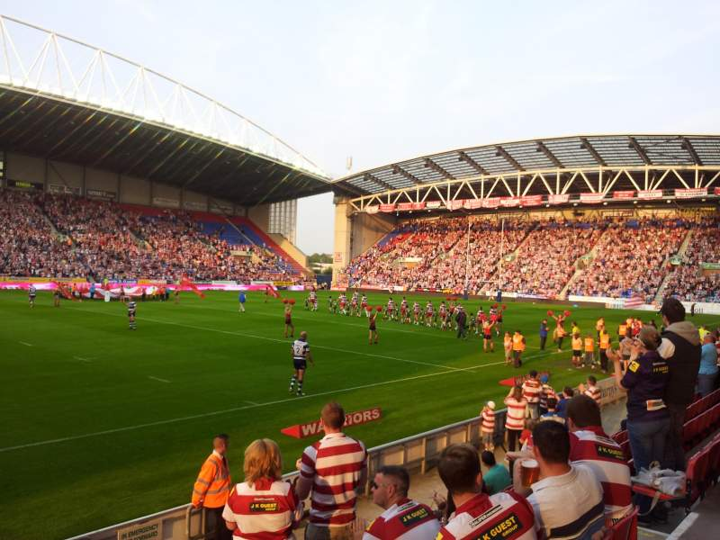 Seating view for DW Stadium Section West Stand