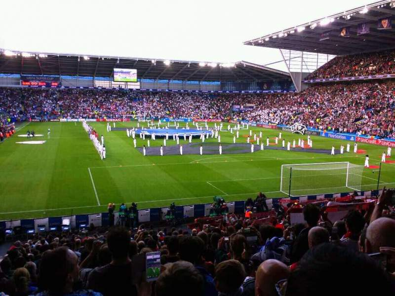 Seating view for Cardiff City Stadium Section 126 Row y Seat 100