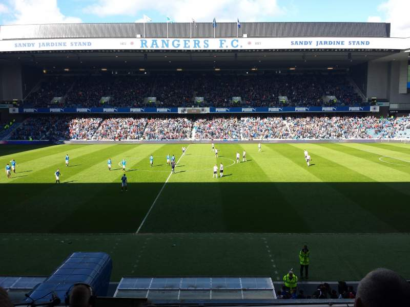 Seating view for Ibrox Park Section Main Stand Front Row C