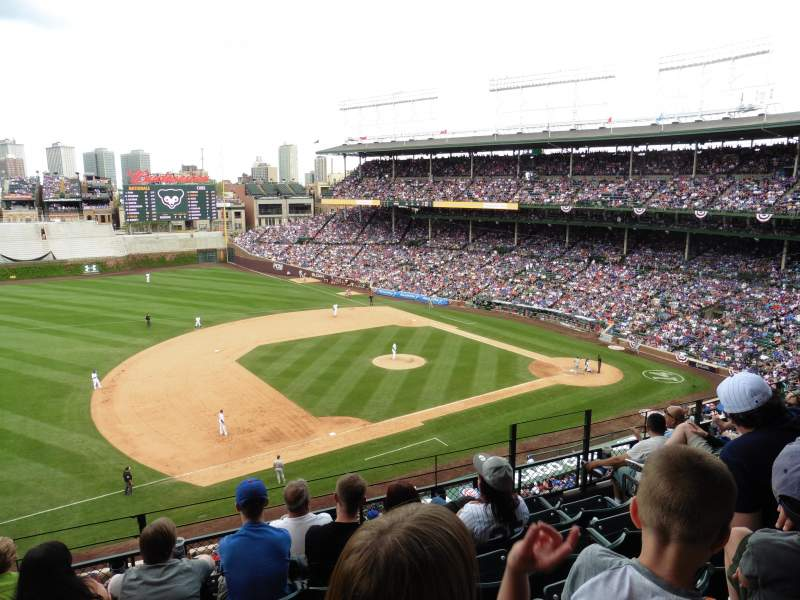Seating view for Wrigley Field Section 411 Row 6 Seat 108