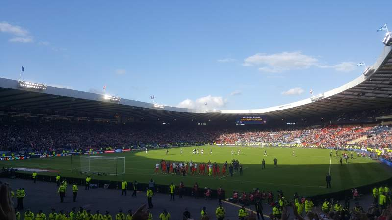 Seating view for Hampden Park Section A4