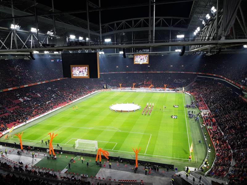 Seating view for Johan Cruyff Arena Section 412 Row 26