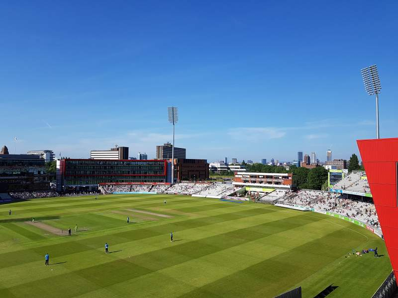 Seating view for Old Trafford Cricket Ground Section Upper Tier Row Back Row