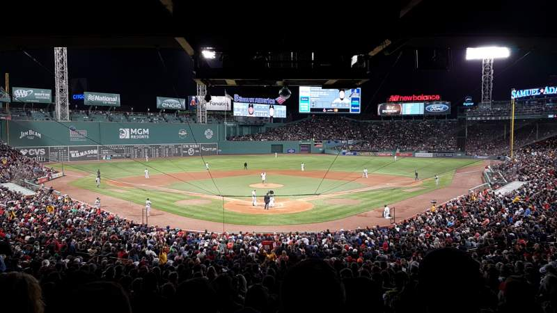 Seating view for Fenway Park Section Grandstand 21 Row 11 Seat 12