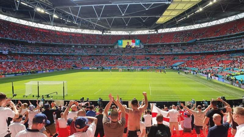 Seating view for Wembley Stadium Section 110 Row 22