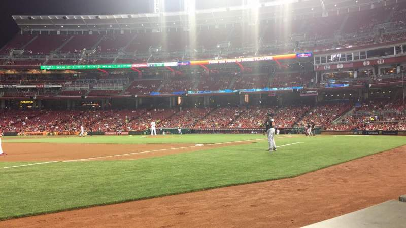 Great American Ball Park, section: 113, row: A, seat: 11